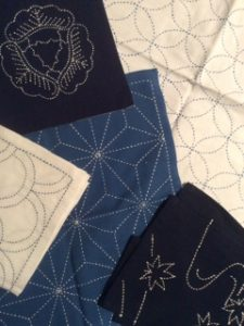 Sashiko embroidery samples