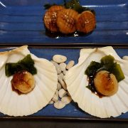 Scallops with soy sauce and yuzu made with a traditonal Japanese recipe